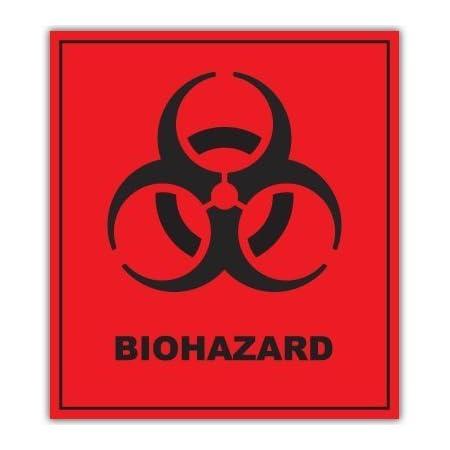 Aufkleber Autoaufkleber Sticker Decal Biohazard Danger Warning Sign Sticker Decal 101mmx127mm Auto