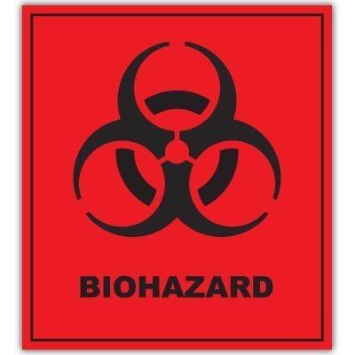 Autocollant bIOHAZARD danger warning sign sticker decal 101 mm x 127 mm