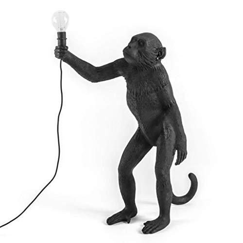 Moderne aap staande lamp hars henneptouw Seletti aap vloerlamp woonkamer aap staande lamp in hanglampen hanglamp E27 54cm