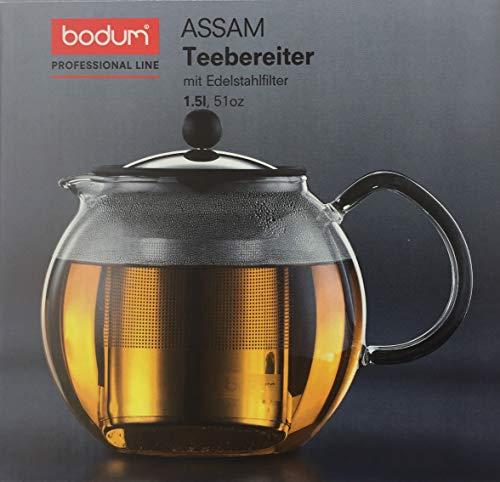 Bodum Proffetional Line Assam 1,5 Liter Teebereiter mit Edelstahlfilter