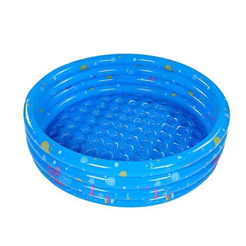 Vier-Ring aufblasbarer Swimmingpool, Familie Toy Pool Verschleißfeste Marine-Ball Pool-Runde Planschbecken Badeteich Durchmesser: 130 / 150cm (Size : 150cm)