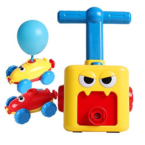 Lookit Like Air-Powered Balloon Car – Globo de energía inercial coche inflable bomba de mano, juguete experimento científico para niños