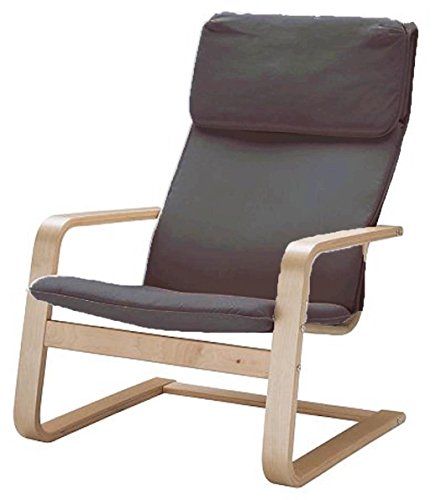The Pello Chair Cotton Covers Replacement is Custom Made for IKEA Pello Chair Cover (Or Pello Armchair Slipcover). Multi Color Options (Darkest Gray)