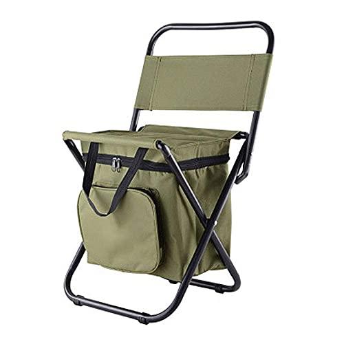 Worth having - Silla de campamento plegable, sillas de playa plegables portátiles, con almohadilla de goma antideslizante y bolsa de almacenamiento conveniente para silla de jardín, peso de rodamiento