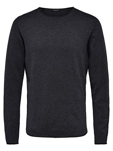 SELECTED HOMME Male Pullover Crew Neck- LAntracit