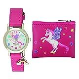 ravel - set regalo per bambinilittle gems unicorno orologio da unicorno e borsetta
