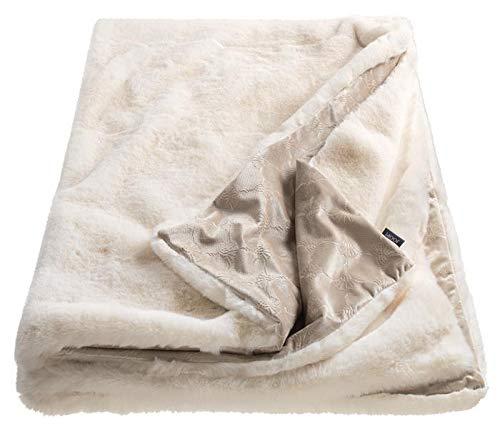 Joop! Smooth Weiss Plaid Farbe Weiss Größe 130x170cm