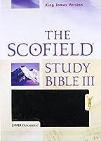 Holy Bible: New King James Version, The Scofield Study Bible III, Zipper Duradera Black