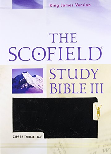 Holy Bible: King James Version, The Scofield Study Bible III, Duradera Zipper Black