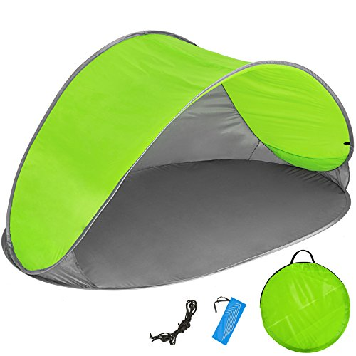 TecTake Tente abri de Plage auvent Pop up Protection UV 220x120x100cm avec Sac de Transport -...