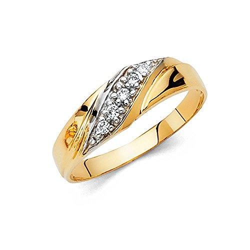 Mens 14k Yellow Gold Wedding Band - Size 8.5