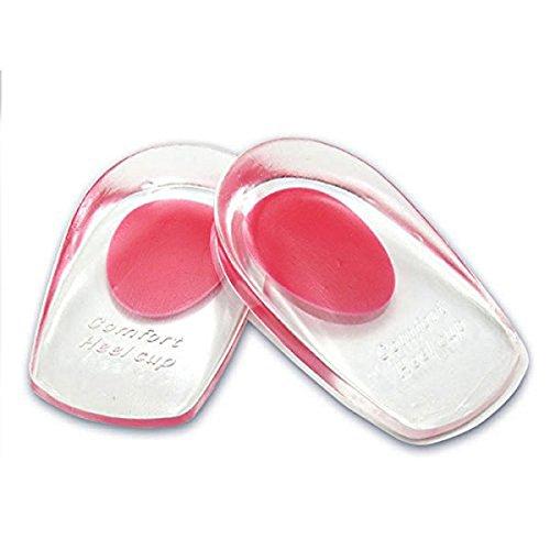 Heallily Paar silikon höhenerhöhung Einsatz Gel fersenlift Einsatz Schuhe Pads Kissen massagegerät (rot)