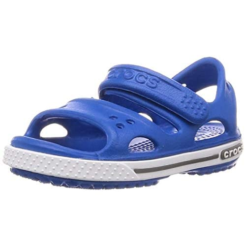 Crocs Crocband II Sandal P, Sandali Unisex - Bambini, Blu (Bright Cobalt/Charcoal), 19/20 EU