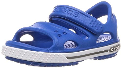 Crocs Kids' Crocband II Sandal | Water Shoes | Slip On Shoes for Boys and Girls, Bright Cobalt/Charcoal, C4 US Toddler