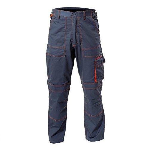 LAHTI PRO LPAS76XL heren werkbroek veiligheidsbroek werkbroek met kniebeschermzakken, maat: XL/176, grafiet (donkergrijs)