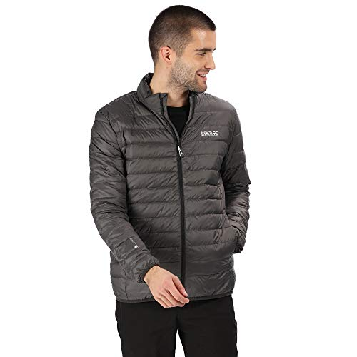 Regatta Herren Whitehill Lightweight & Compressible Water Repellent Packaway Down Jacket Steppjacken, Magnet, L