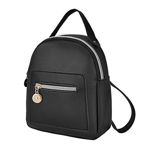 O'vinna Frauen Vintage Tasche Umhängetasche, Handtasche Schultern Kleiner Umhängetaschen Handtaschen, Damen Brusttaschen Handy Messenger Bag Sporttasche (Schwarz)