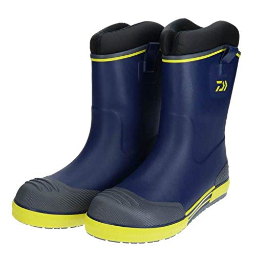 ダイワ(DAIWA) 防寒ブーツ ウインターラジアルデッキブーツ ネイビー/イエロー S WD-2401 船釣り用長靴