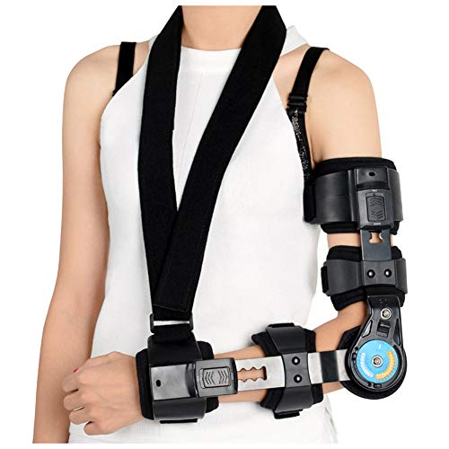 Ellenbogenorthese mit Schlinge, Einstellbare Ellenbogenbandage Stabilisator Schiene, Arthritis Sehnenentzündung Gelenkschmerzen Linderung, Pre/Post Chirurgie Aid,Right