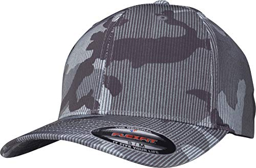 Flexfit Stripe Cap, Dark camo, S/M