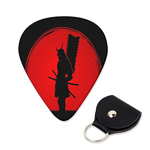 EILANNA Guitar Picks Samurai standing designed on sunlight background graphic Trendy Guitar Plectrums for Your Electric,Acoustic,Ukulele,or Bass Guitar,Guitar Pick Grip 6pcs