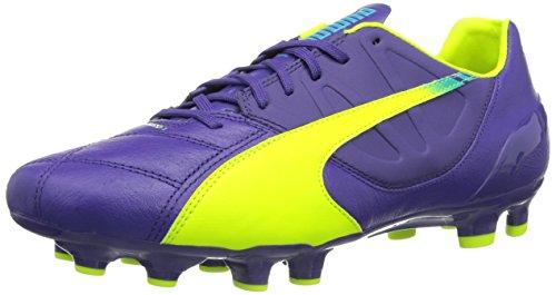 Puma Herren evoSPEED 3.3 FG Fußballschuhe, Violett (prism violet-fluro yellow-scuba blue 01), 42.5 EU