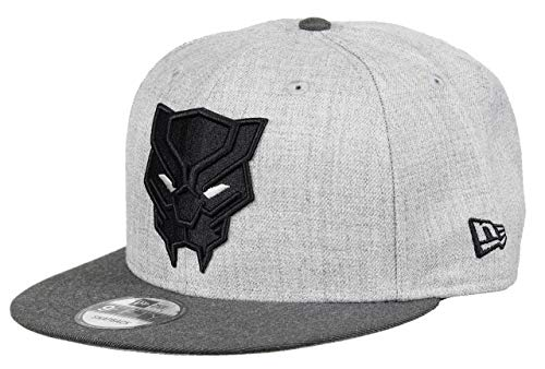 New Era Black Panther 9fifty Snapback Cap Comic Graphite Heather Graphite - One-Size