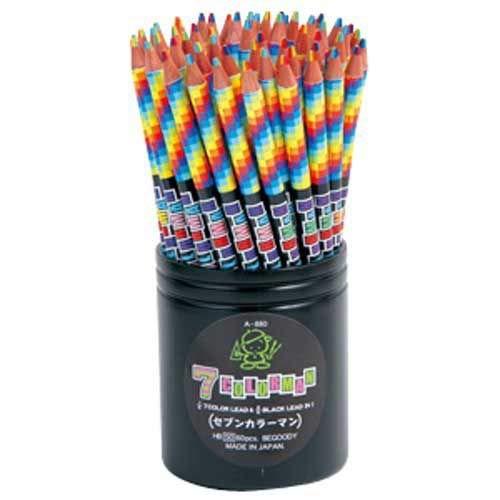 7色カラー&HB鉛筆 60本1セット