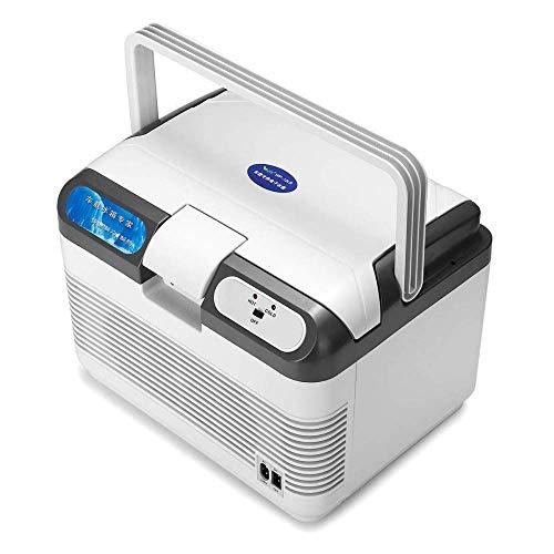 FIONAT Refrigerador de coche de 12L, enfriador de compresor de 60W, refrigeración y calentamiento de nevera portátil para coche, para viajes en casa, camping, 37 * 28 * 28 cm