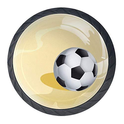 TIKISMILE voetbal op een zandstrand lade knop Pull handvat Ergonomische 35mm kristal glas cirkel meubelkast handvat voor keuken dressoir kast 4 stuks