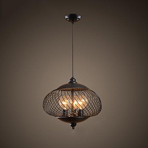 Adelaide - Lustre européen retro bar créateur personnalité chambre à coucher lampe de restaurant lampe simple fer lustre industriel