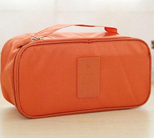 Sac à Main Multifonction Sac De Rangement Sous-vêtements De Soutien-gorge Vêtements Chaussettes De Finition Des Sacs,Orange