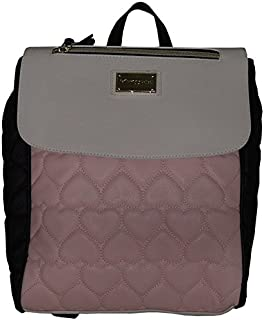 Be Mine Quilted Backpack Black