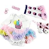 ZIYIUI Ropa para Muñecas de Bebé Trajes Lindos Ropa para Bebés Niñas Juguetes para Muñecas Vestido Muñeca de Simulación para decoración Accesorios para Muñecas de 20-22 Pulgadas