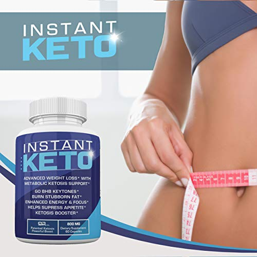 Instant Keto - Advanced Weight Loss with Metabolic Ketosis Support - 800MG - 60 Pills - 30 Day Supply 3