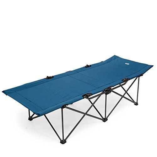 Qeedo Quick Jimmy XXL Feldbett faltbar (210 x 81 cm) Campingliege bis 150 kg - blau