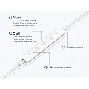2 Pack-Apple Earbuds/Headphones/Earphones with 3.5mm Wired in Ear Headphone Plug(Built-in Microphone & Volume Control) Compatible with iPhone,iPad,iPod,PC,MP3/4,Android -White [Apple MFi Certified]