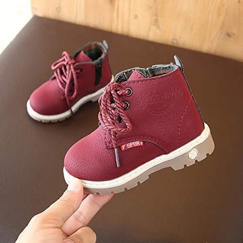 Liujingxue kinderwinterschoenen, meisjes sneeuwlaarzen, kinderen casual zachte onderkant katoenen schoenen, materiaal: In katoen, maat: 29, warm gevoerde winterlaarzen sneakers