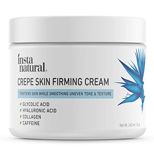 Crepe Firming Cream for Face, Neck, Chest, Legs & Arms – Tightening & Lifting, Anti-Aging, Anti-Wrinkle, Collagen Skin Repair Treatment - Made With Hyaluronic Acid, Alpha Hydroxy & Caffeine – 8 oz