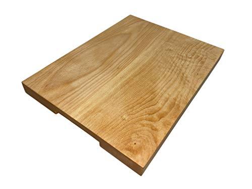 Erreke - Tabla de Cortar, Madera de Haya, 40x30x3 cm, Antideslizante, Segura y Solida. Tabla de Cocina para Servir o Picar.