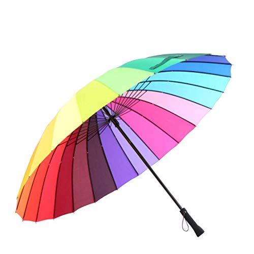 Mango recto hueso 16 sombrilla paraguas arco iris