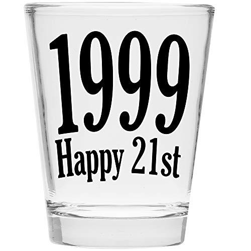 Shot Glass - 1997 Happy 21st Birthday Gift - Celebrate Turning Twenty One (1999)