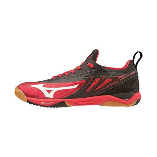 Mizuno Schuh Wave Drive Neo + 1 Paar Socken gratis Optionen 6,0, rot/schwarz