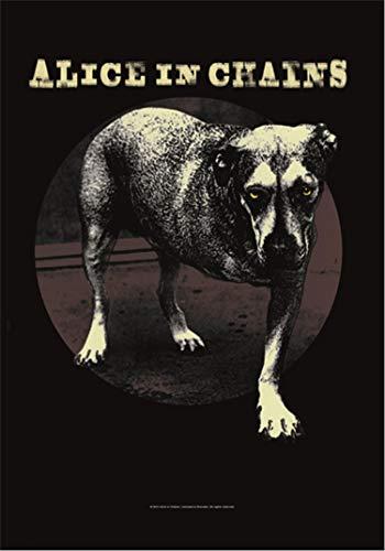 Heart Rock Bandiera Originale Alice in Chains Grin, Tessuto, Multicolore, 110x75x0.1 cm
