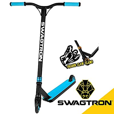 Swagtron Stunt/Freestyle Scooter for Beginners/Amatures BMX & Advanced Riders – Kids or Adults – Custom Scooter Supports up to 260 lbs