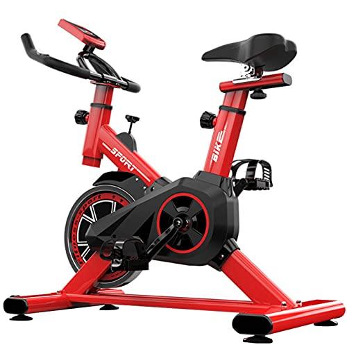 Spinning Bike Bicicleta Estática para El Hogar, Bicicleta Estática para Interiores con Monitor Digital Y Sensor De Frecuencia Cardíaca, Equipos De Fitness Aeróbico para Hombres Y Mujeres