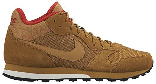 Nike Herren MD Runner 2 Mid Laufschuhe, Braun, Rot, Weiß (Wheat/Wheat-Black-Unvrsty Red), 39 EU