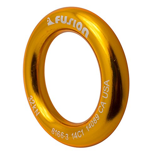 "Fusion Climb Perfect Tension Aluminum O-Ring Large 2.625"" Gold 32KN"