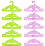 ZITA ELEMENT 10 Perchas 5 Color Rosa y 5 Color Verde Accesorios para Muñeca de 18 Pulgadas 45-46cm American Girl Doll