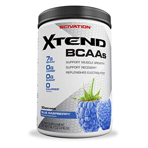 xtend bcaa 30 serving blue raspberry flavour 416gm weight orignal